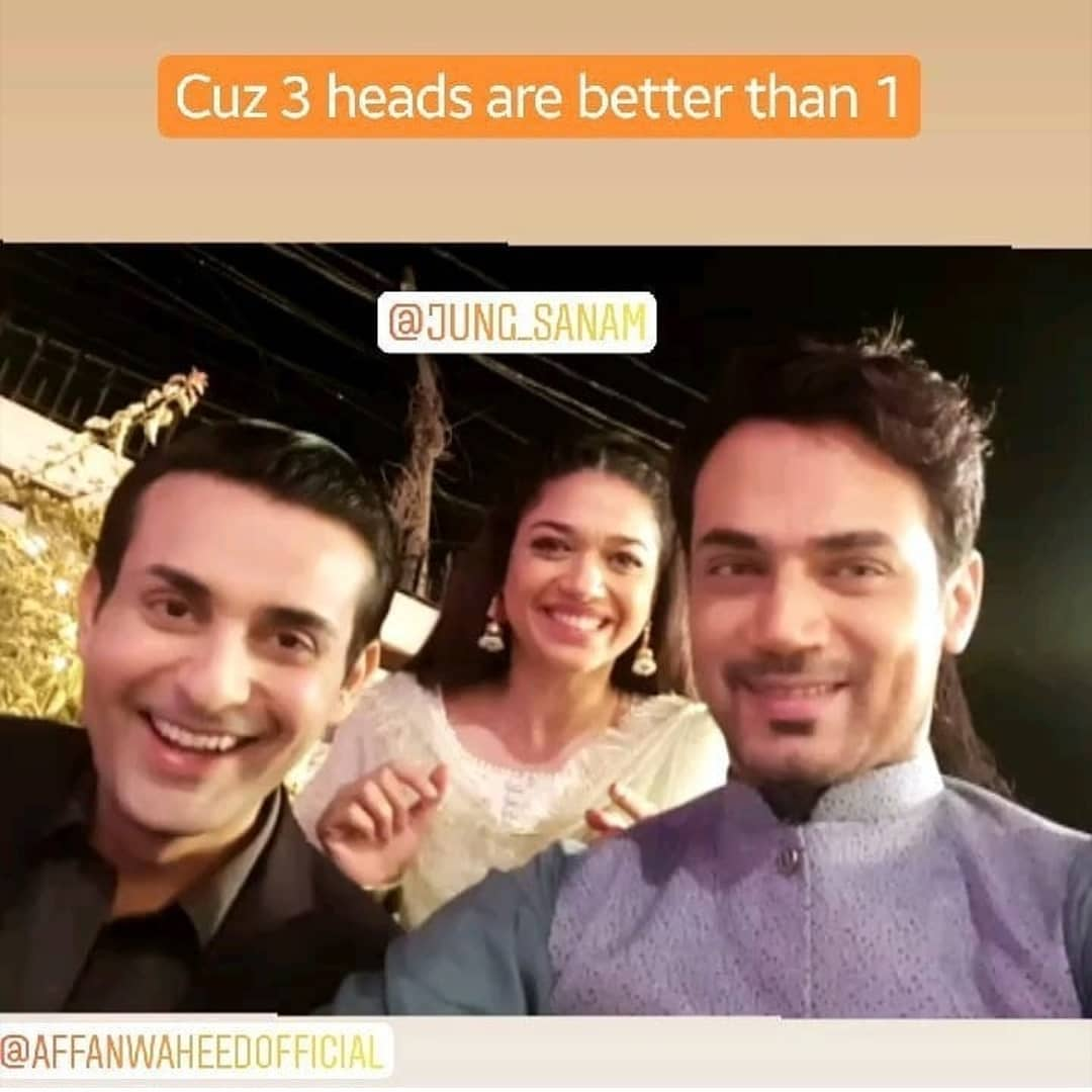 Sanam Jung and Zahid Ahmed on the Set of their Upcoming Drama