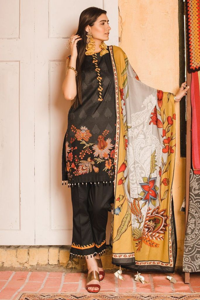 Stylish Ethnic by Outfitters Dar Unstitched lawn Volume-2 for Girls