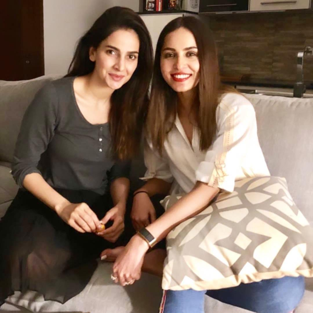 Saba Qamar and Nimra Khan Last Night at Dinner