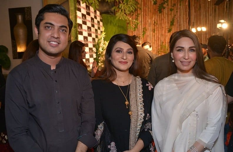 Iqrar ul Hassan with his Wife and Son at an Event