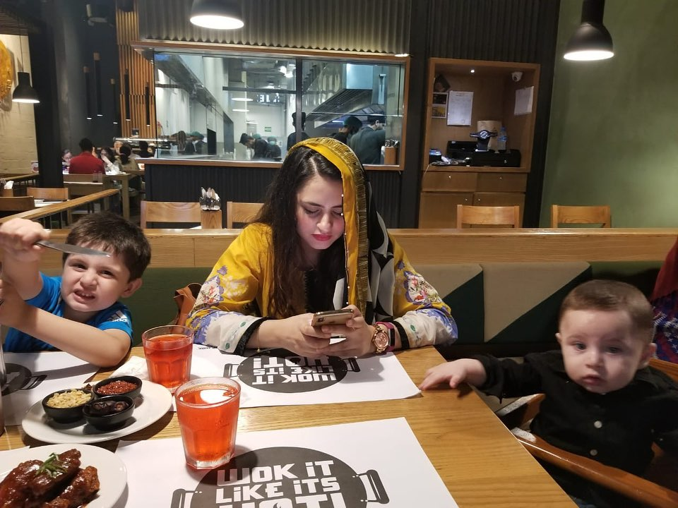 Kanwar Arsalan and Fatima Effendi with their Cute Kids at Iftar