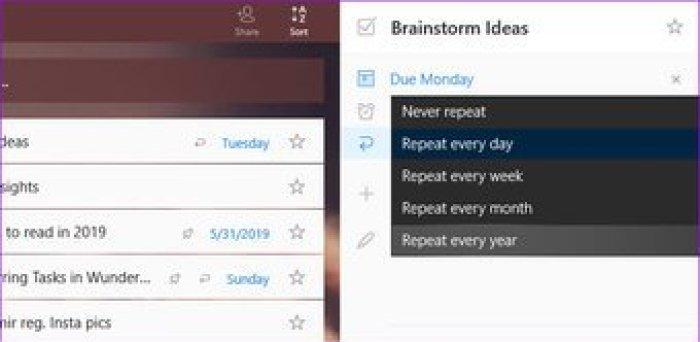 Create Recurring Tasks In Wunderlist 5