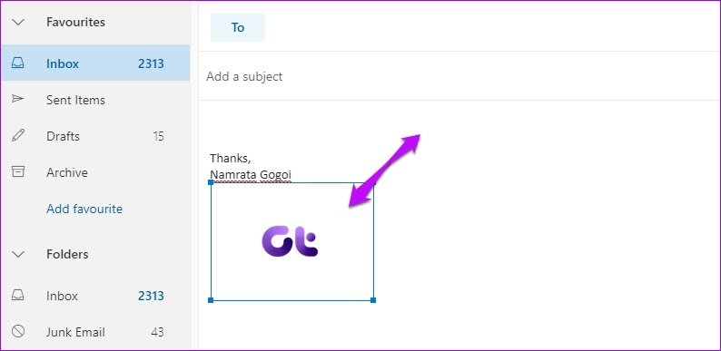 Here is How To Add Picture To Signature In Outlook Web App 4