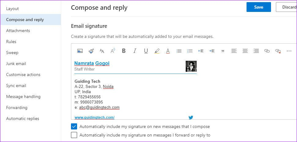 Here is How To Add Picture To Signature In Outlook Web App 13