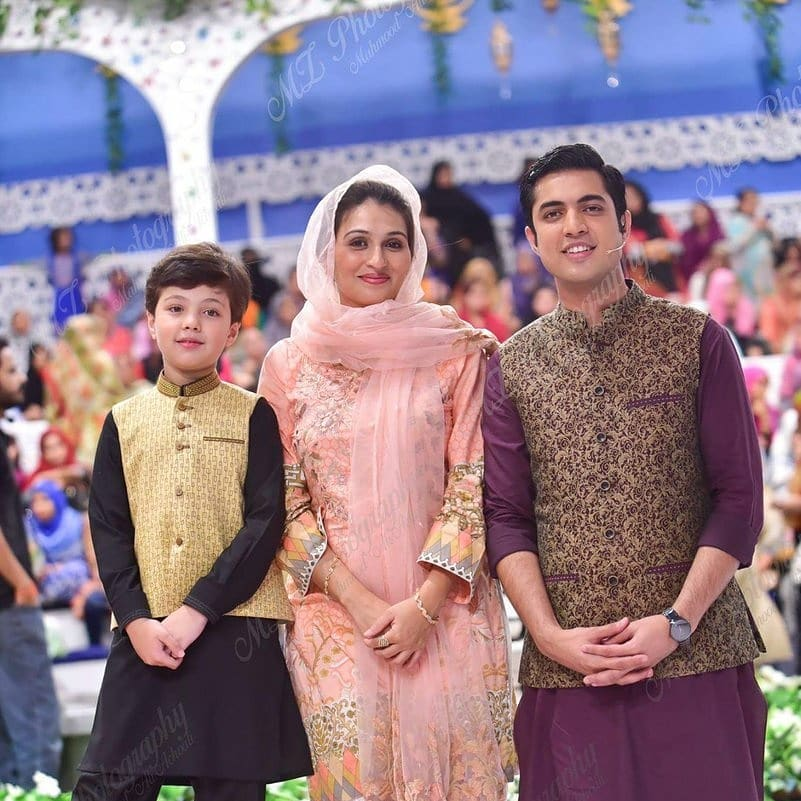 New Photos of Iqrar ul Hassan with his Wife Qurat ul Ain and Son Pehlaaj