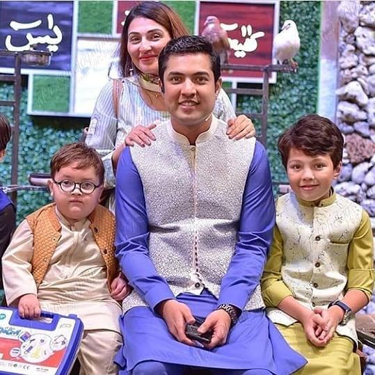 Iqrar ul Hassan with his Wife Celebrating his Son Pehlaaj First Roza Kushai