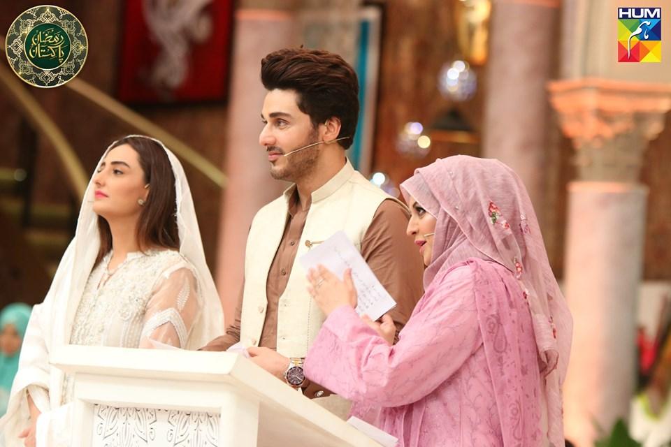 Awesome Bushra Amir and Momal Sheikh in Hum Tv Ramzan Transmission