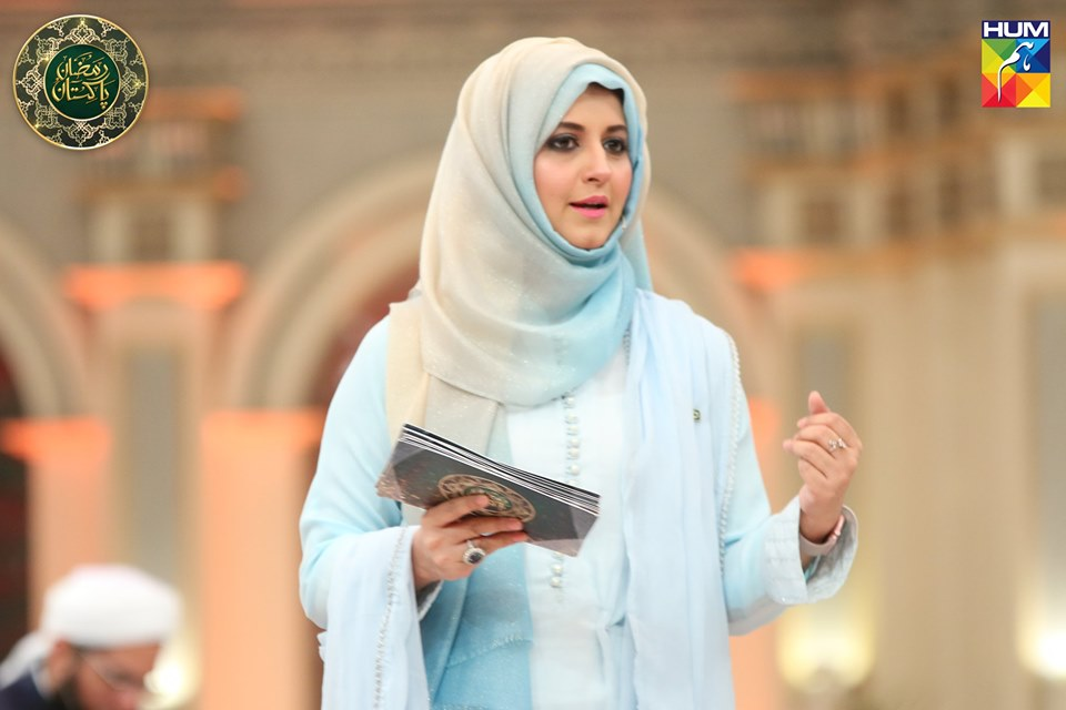 New Awesome Photos of Sanam Jung and Bushra Amir in Hum Tv Ramzan Transmission