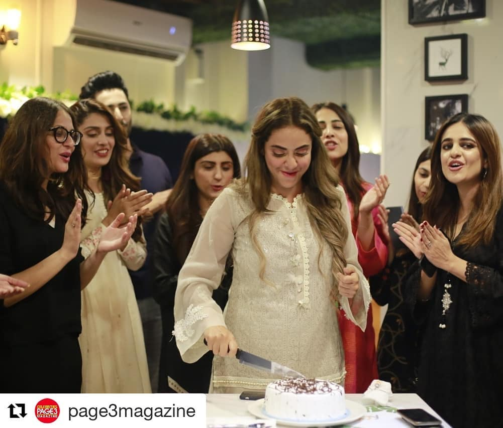 Celebrities at the Birthday Party of Nadia Khan Last Night