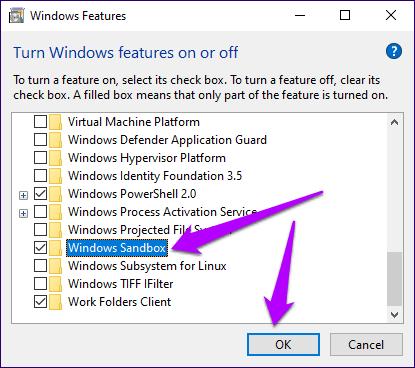 Windows Sandbox Missing Issue 4