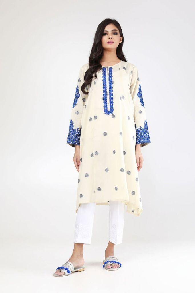 Stylish Eid festival Embroidered Kurta Styles by Khaadi For Yr 2019