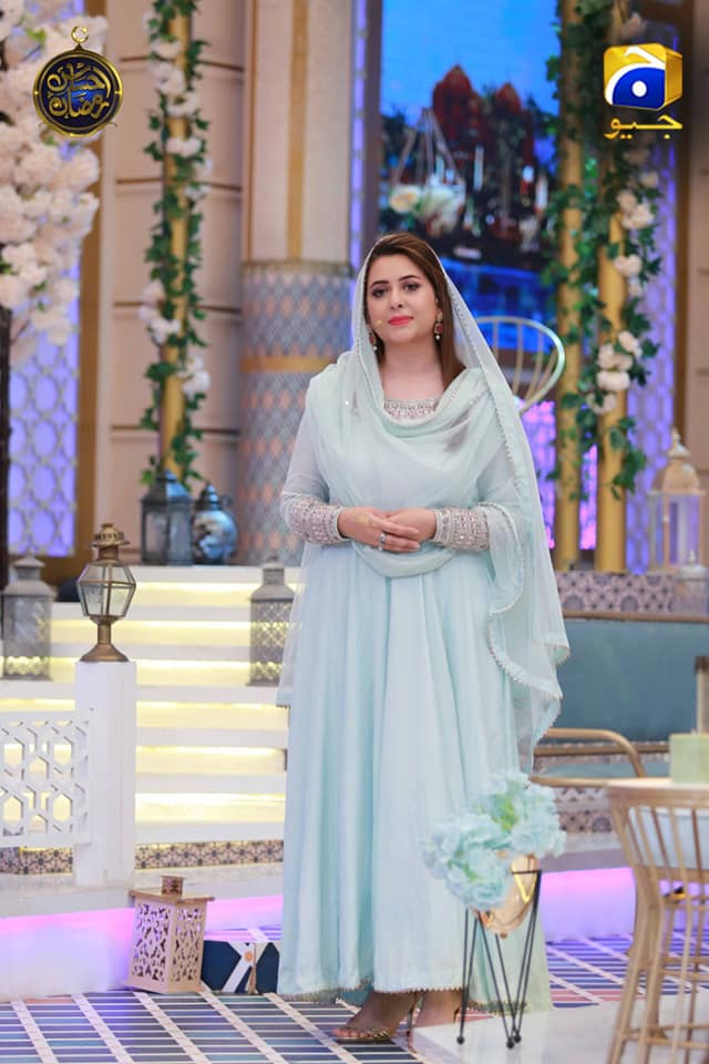 Actress Sumbul Iqbal in Ehsaas Ramzan Transmission