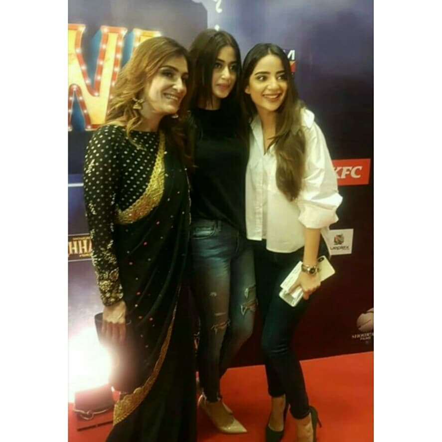 Awesome Sisters Sajal Aly and Saboor Aly at the Premeir of Movie Chhalawa