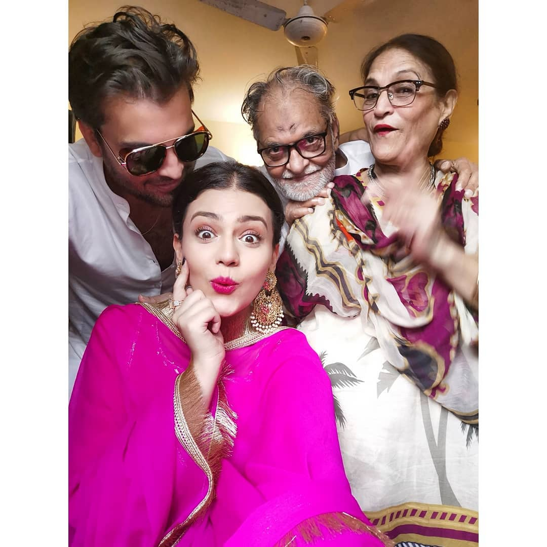Iqra Aziz, Yasir Hussain, Zara Noor and Asad Siddique Celebrating Eid Together