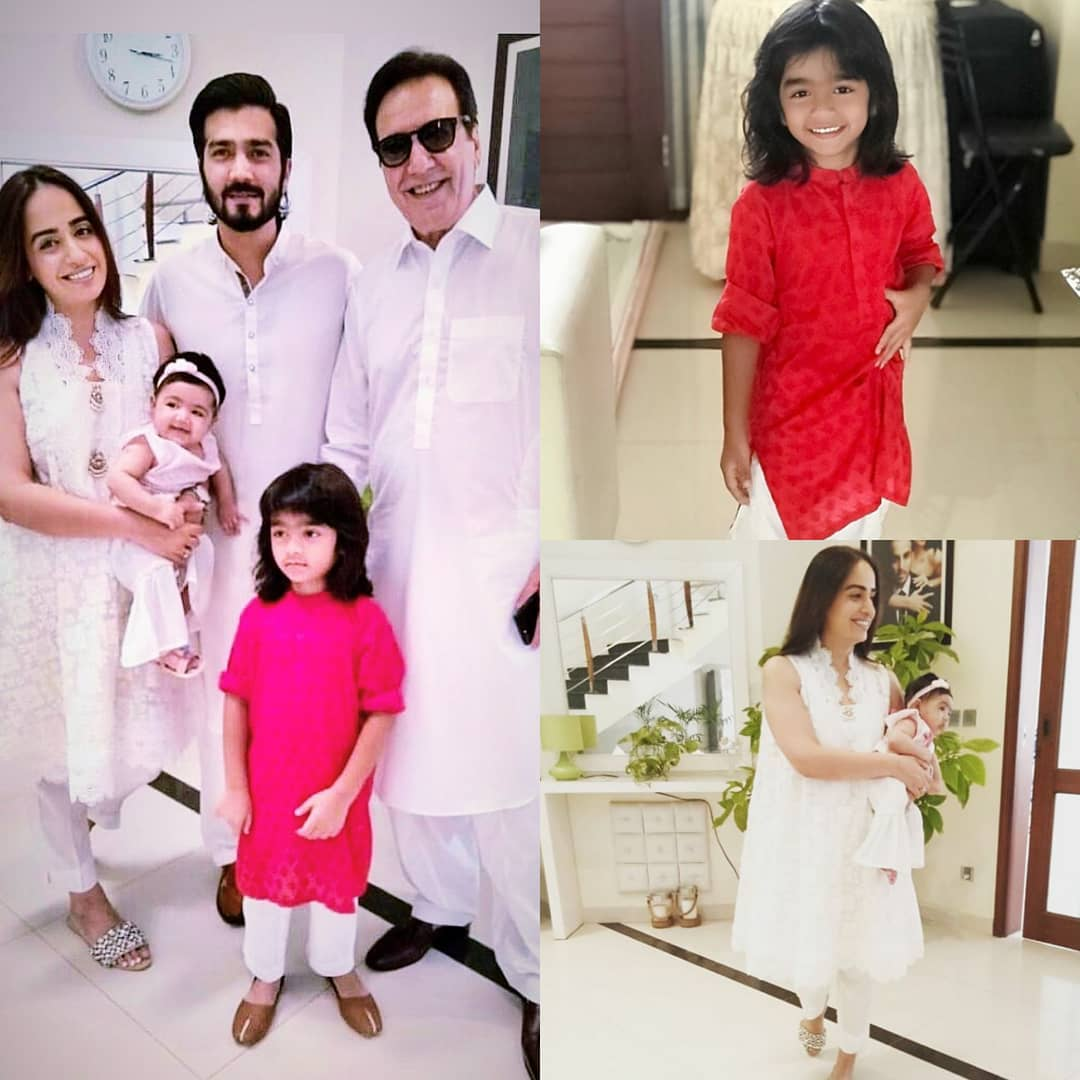 Momal Sheikh and Shahzad Sheikh with their Family on Eid Day