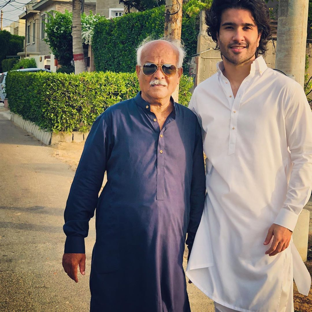 Awesome Eid Photos of Feroze Khan with his Wife Alizey and Son