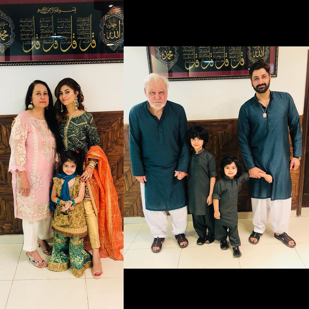 Syed Jibran with his Awesome Family on Eid Day