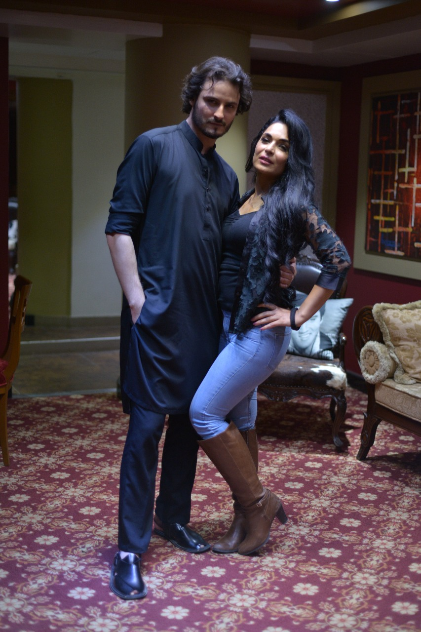 """Osman Khalid Butt and Meera at Promotion of their Upcoming Movie """"Baaji The Film"""""""