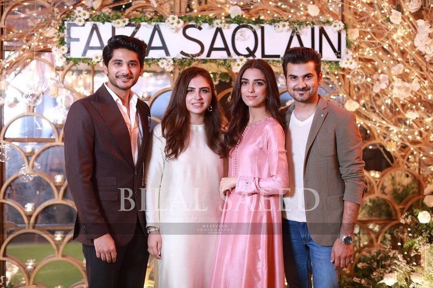 Awesome Maya Ali with her Brother in a Recent Event