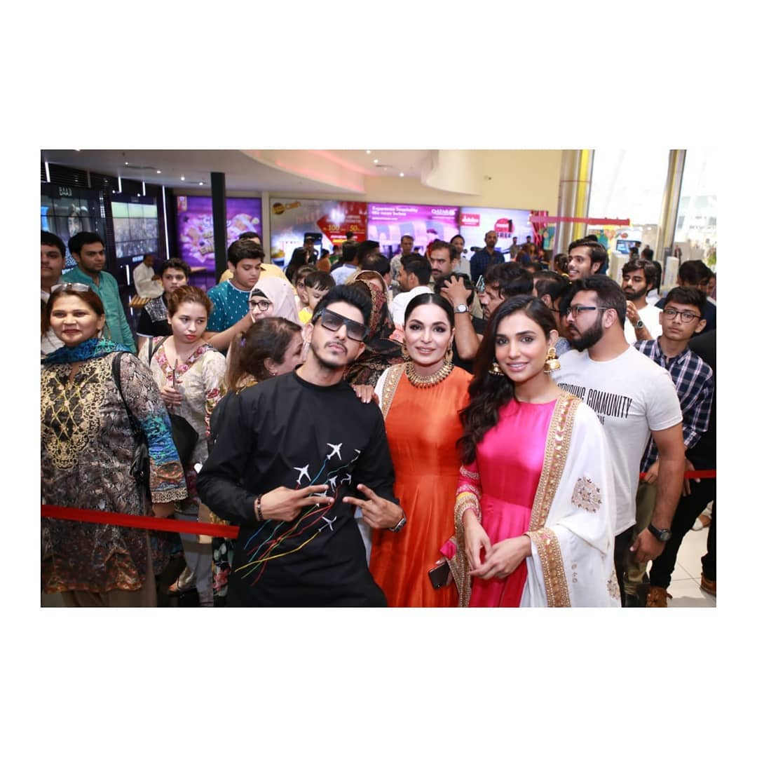 Recently Released Film Baaji Cast with Fans