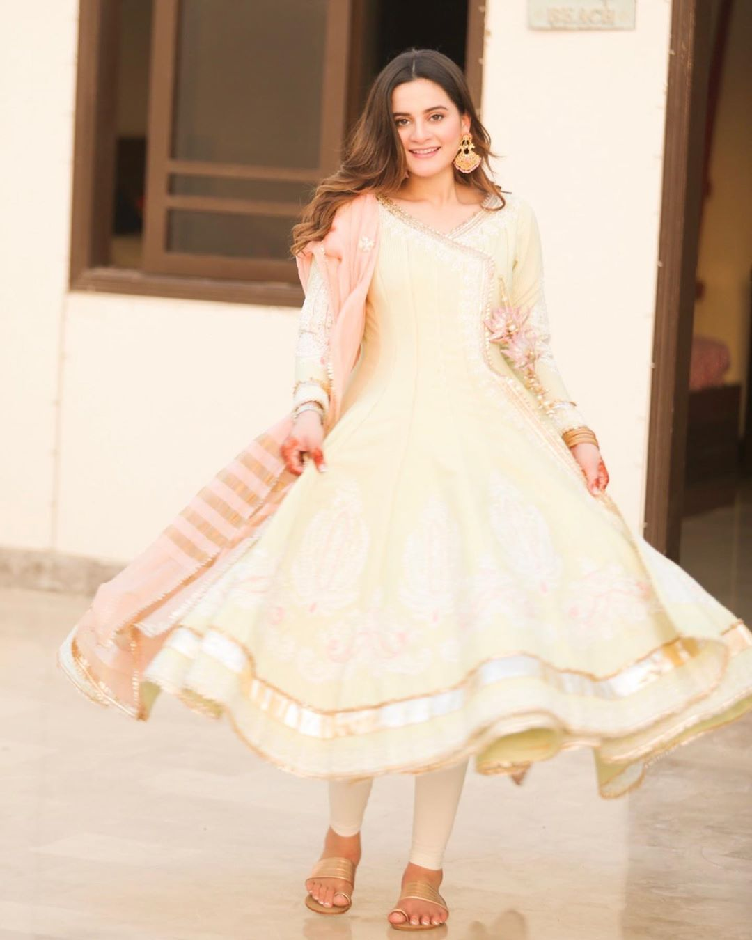 Awesome Actress Aiman Khan Pictures on Eid Day