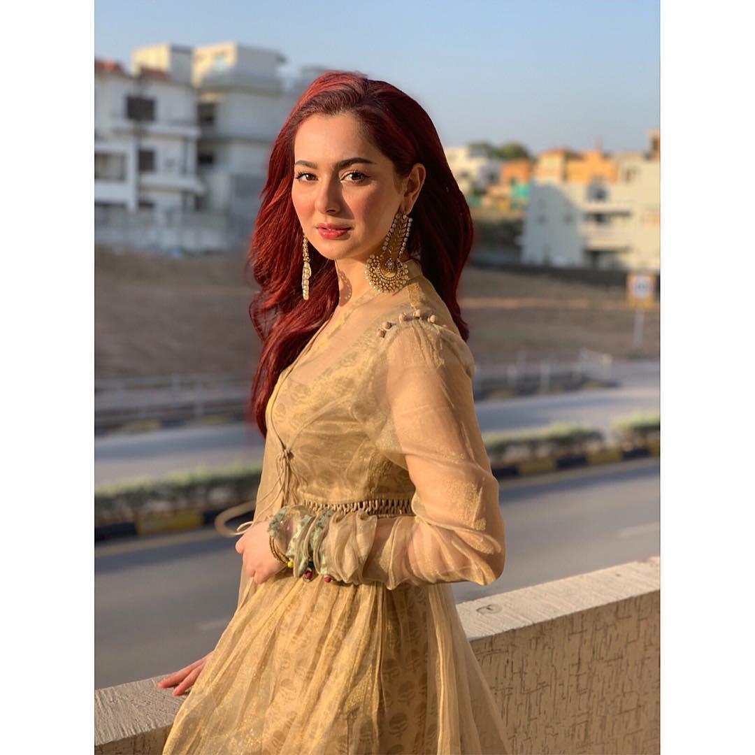 Beautiful Hania Amir on Eid Day with Family