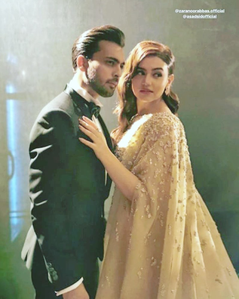 Famous Couple Zara Noor Abbas and Asad Siddique at Lux Style Awards