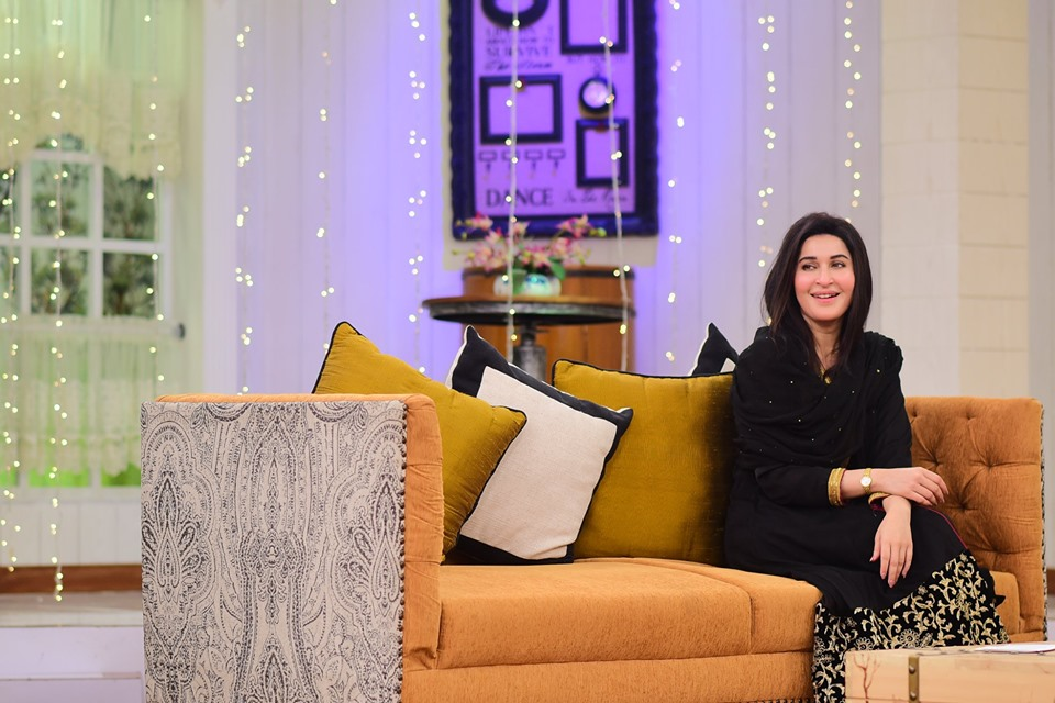 Dr Shaista Lodhi with her Son in Nida Yasir Morning Show