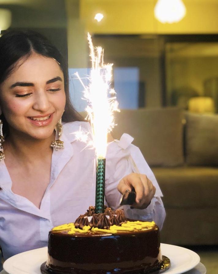 Beautiful Yumna Zaidi Celebrating Her Birthday
