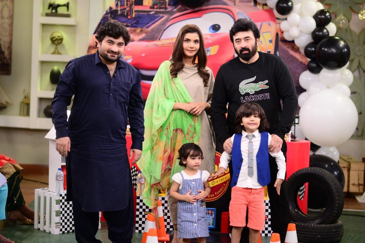 Birthday Celebration of Balaaj | Nida Yasir & Yasir Nawaz Son in Good Morning Pakistan