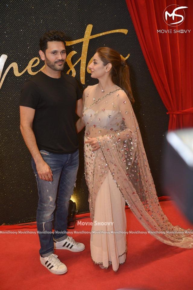Beautiful Sarwat Gillani and Fahad Mirza at Premier of Movie Superstar