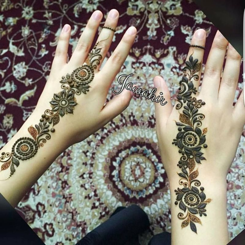 Give Beautiful Touch to Your Hands with These Arabic Girls Mehndi Styles 2019-2020
