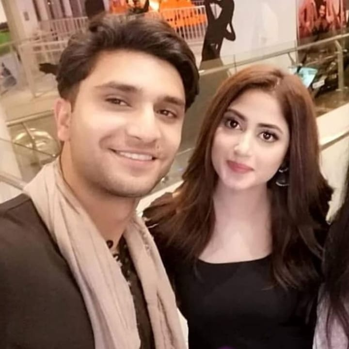 Sajal Aly and Ahad Raza Mir Spotted at the Premier of Movie Superstar