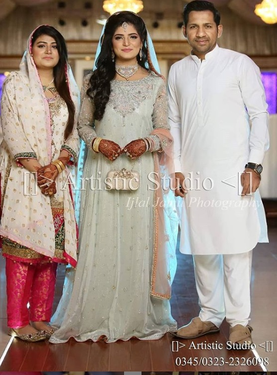 Cricketer Sarfaraz Ahmed with His Wife at Wedding of His Sister In Law