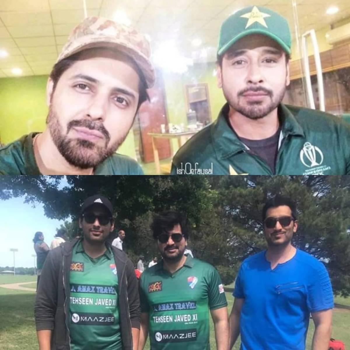 Pakistani Celebrities Playing Cricket 5
