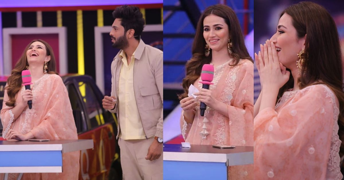 Actress Sana Javed in Jeeto Pakistan with Fahad Mustafa