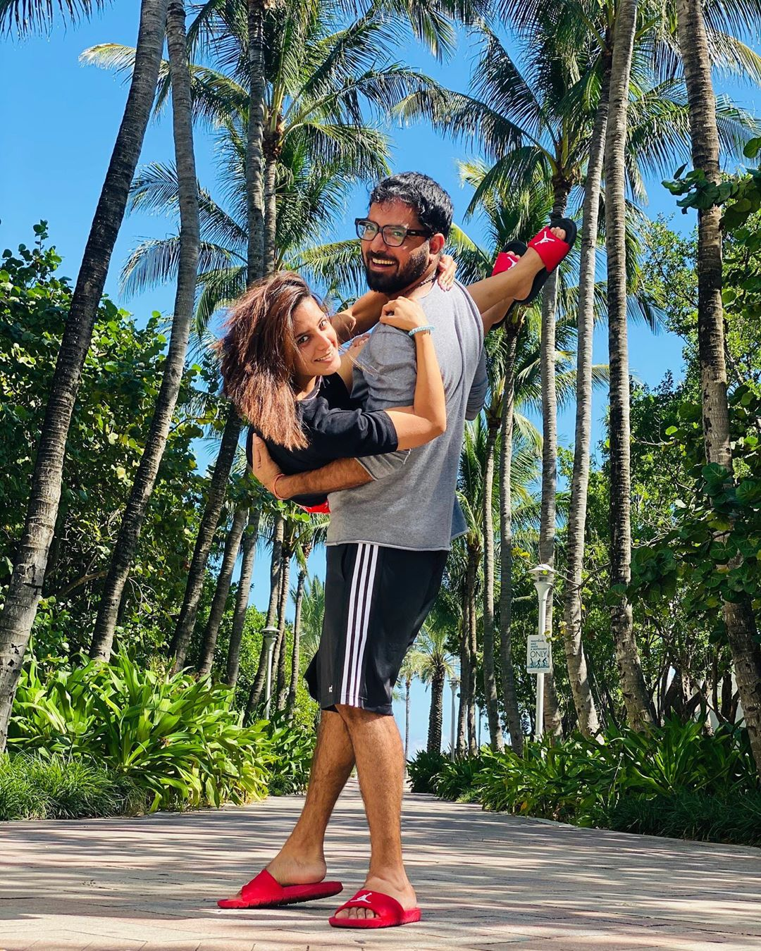 Latest Clicks of Iqra Aziz and Yasir Hussain in Miami USA