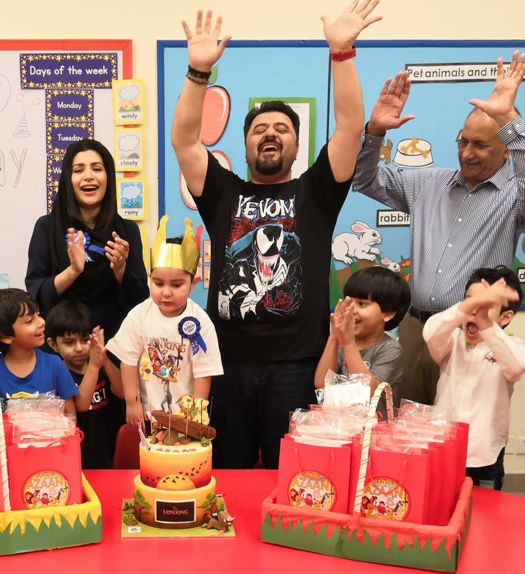 Actor Ahmed Ali Butt Celebrating Birthday of his Son Azaan