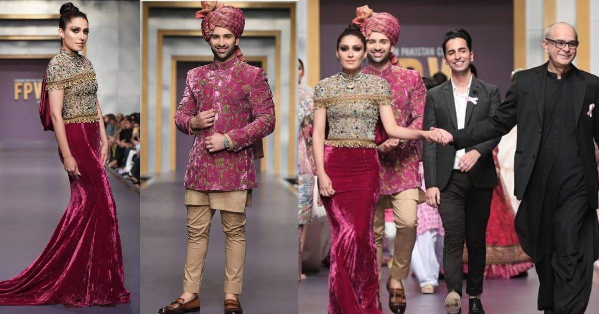Ayeza Khan and Muneeb Butt at Fashion Pakistan Week-Winter Festive '19