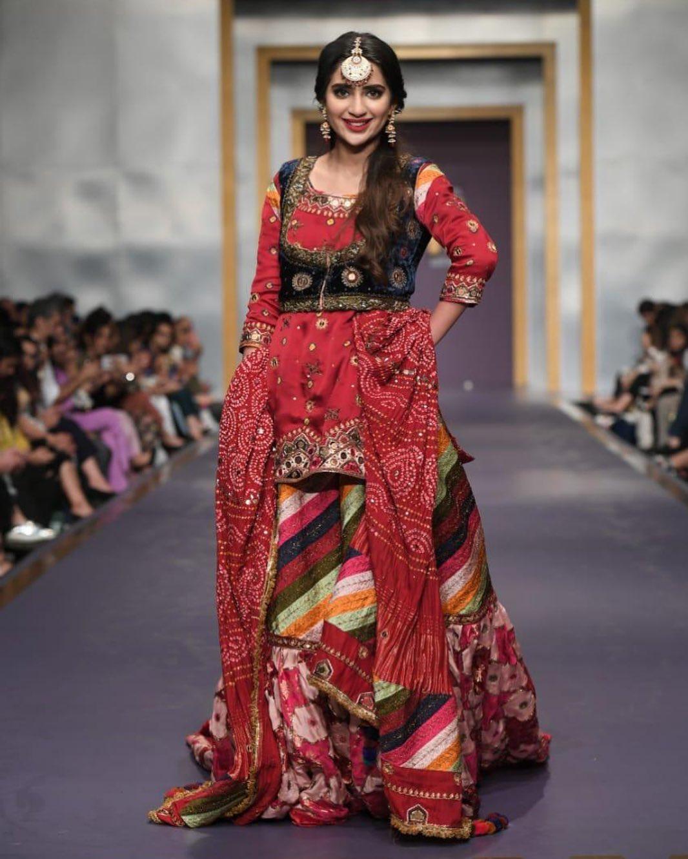 Saboor Aly Walked on Ramp at Fashion Pakistan Week 2019