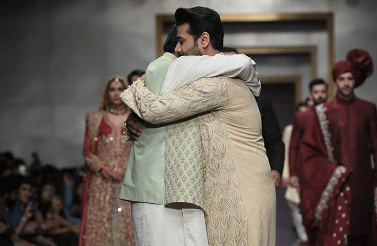 Ali Abbas Along with His Father Walking On The Ramp
