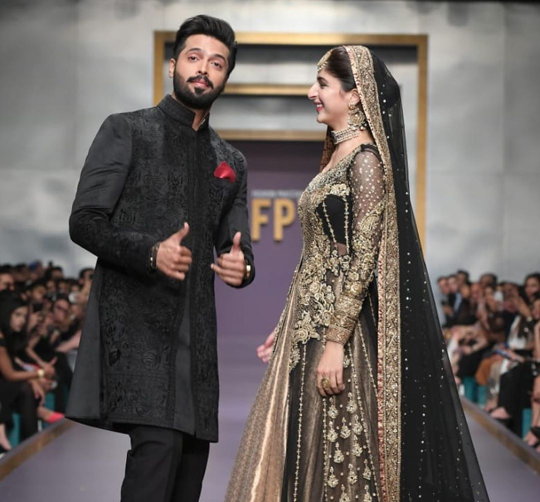Fahad Mustafa and Mawra Hocane Walked at Fashion Pakistan Week-Winter Festive