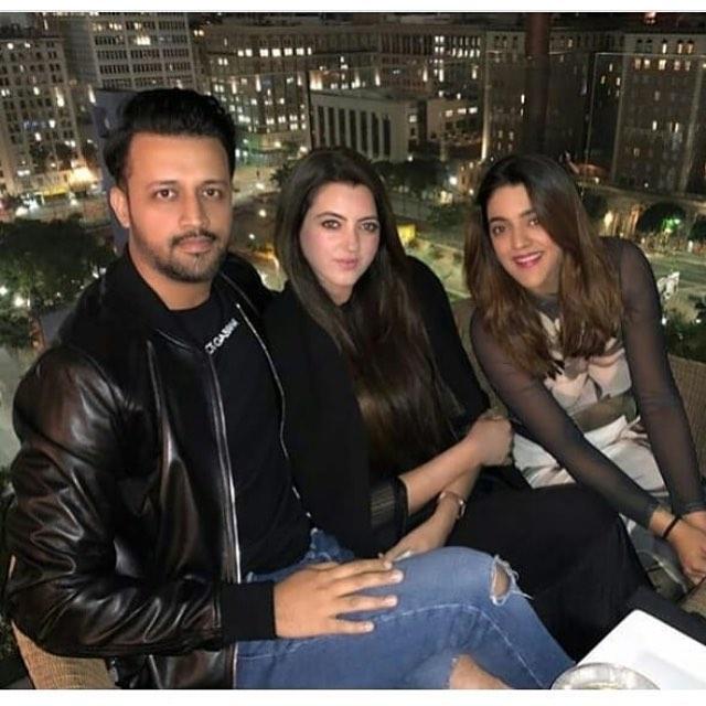 New Clicks of Atif Aslam with Wife Sara Bharwana