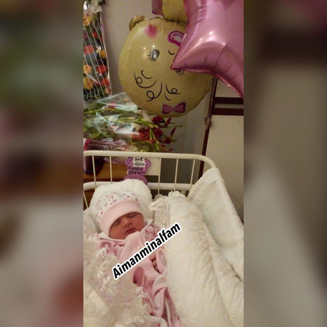 New Cute Clicks of Aiman and Muneeb Daughter Amal