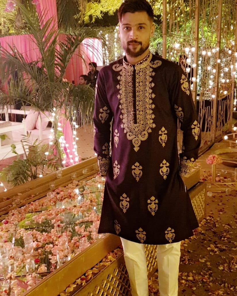 Muhammad Amir with his Wife Narjis at a Wedding Event