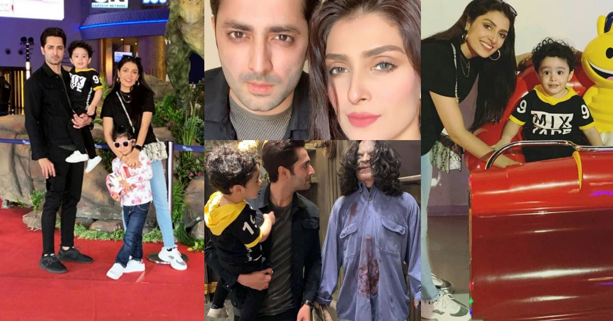 New Pictures of Ayeza Khan and Danish Taimoor with Kids from Dubai
