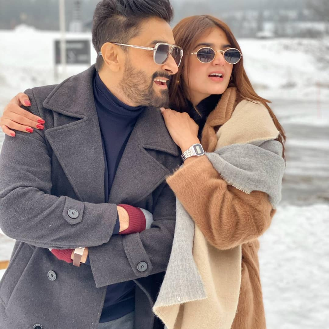 Latest Clicks of Beautiful Couple Hira and Mani from Oslo Norway