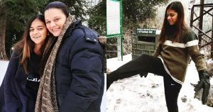 Actress Salma Hassan Spending Winter Vacations with her Daughter
