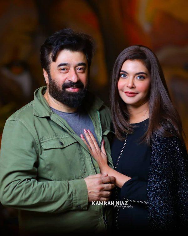Humayun Saeed with his Wife at Yasir and Arsalan Restaurant