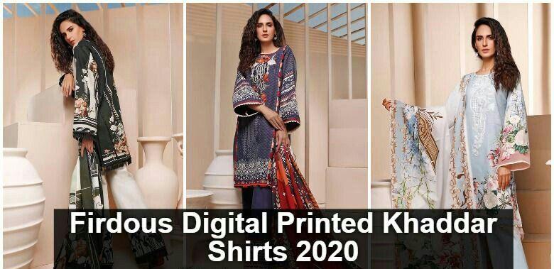 Firdous Digital Designs Khaddar Shirts 2020 with Prices